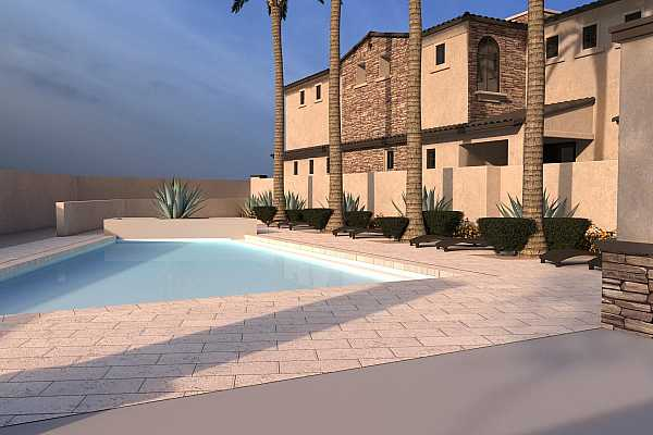 Photo #2 Preliminary Poos rendering showing Build