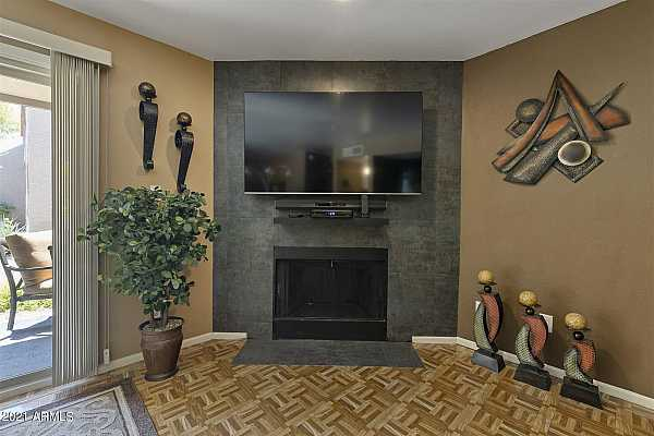 Photo #4 Fireplace and TV wall