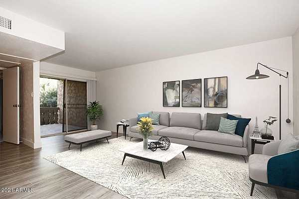 Photo #2 living room (virtually staged)